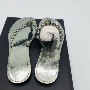 Franco Sarto Silver sandals.